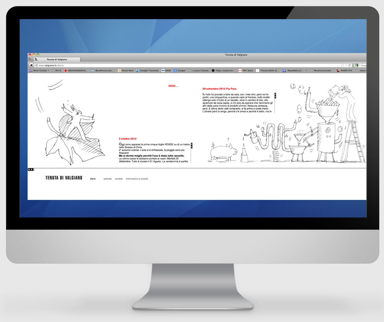 On line il nuovo sito della tenuta di valgiano for Sito web di progettazione di pavimenti